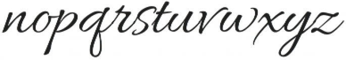 AlluraScript otf (400) Font LOWERCASE