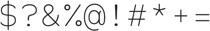 Alma Mono Thin otf (100) Font OTHER CHARS