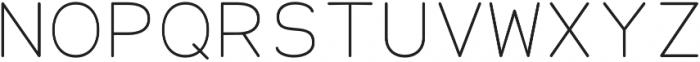 Alma Mono Thin otf (100) Font UPPERCASE