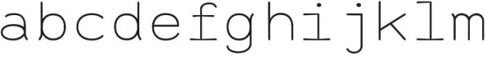 Alma Mono Thin otf (100) Font LOWERCASE