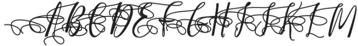 Almera Initial Swash otf (400) Font UPPERCASE