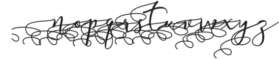 Almera Initial Swash otf (400) Font LOWERCASE