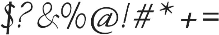 Almond otf (400) Font OTHER CHARS