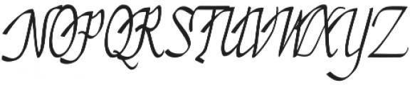 Almond otf (400) Font UPPERCASE