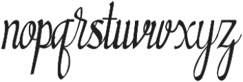Almond otf (400) Font LOWERCASE