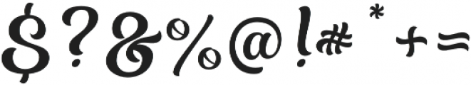 Almost Lover Script otf (400) Font OTHER CHARS