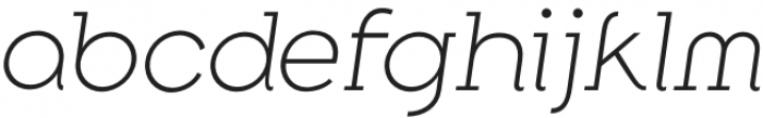 Along Slab WORK ExtraLightItalic otf (200) Font LOWERCASE