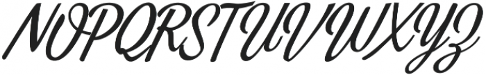 Alpenable Slant otf (400) Font UPPERCASE