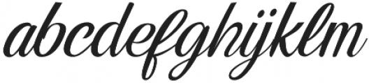 Alpenable Slant otf (400) Font LOWERCASE