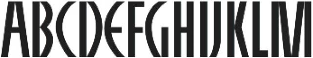 AlphaCharlie Regular otf (400) Font UPPERCASE