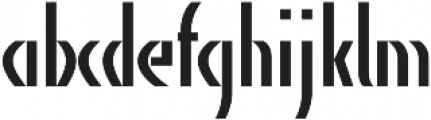 AlphaCharlie Regular otf (400) Font LOWERCASE
