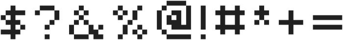 Alpharush ttf (400) Font OTHER CHARS