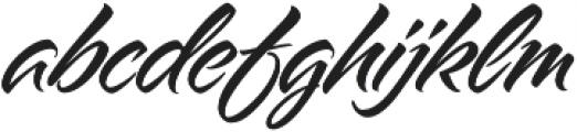 Alpine Script otf (400) Font LOWERCASE