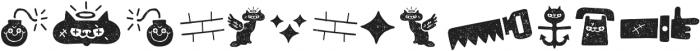 Alquitran Pro Dingbat Character Dirt Two otf (400) Font UPPERCASE