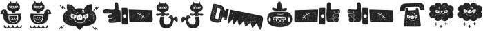 Alquitran Pro Dingbat Character Dirt Two otf (400) Font LOWERCASE