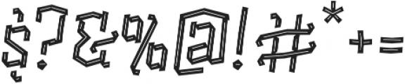 Alquitran Pro Regular Line otf (400) Font OTHER CHARS
