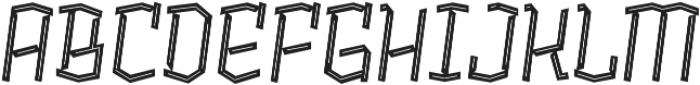 Alquitran Pro Regular Line otf (400) Font UPPERCASE