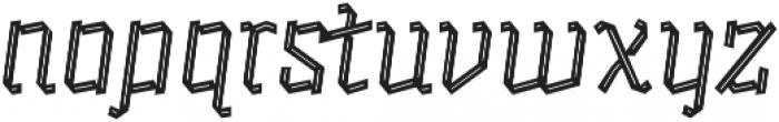 Alquitran Pro Regular Line otf (400) Font LOWERCASE