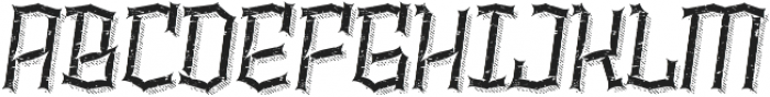 Alquitran Rust Destroy More Shadow line otf (400) Font UPPERCASE
