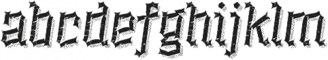 Alquitran Rust Destroy More Shadow line otf (400) Font LOWERCASE