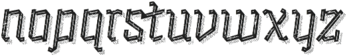 Alquitran Rust Regular with Shadow Line otf (400) Font LOWERCASE