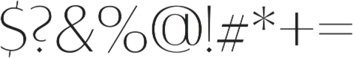 Alta Light otf (300) Font OTHER CHARS