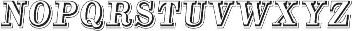 Alta Mesa Open L Regular Italic otf (400) Font UPPERCASE