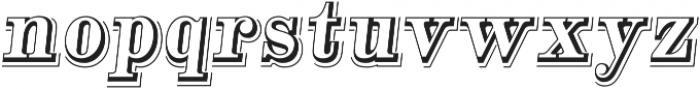 Alta Mesa Open L Regular Italic otf (400) Font LOWERCASE