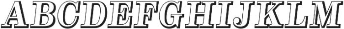 Alta Mesa Open Regular Italic otf (400) Font UPPERCASE