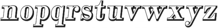Alta Mesa Open Regular Italic otf (400) Font LOWERCASE