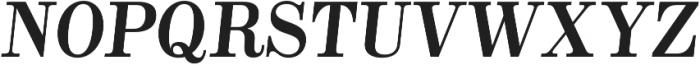 Alta Mesa Plain Regular Italic otf (400) Font UPPERCASE