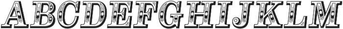 Alta Mesa Regular Italic otf (400) Font UPPERCASE