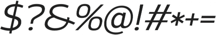 Altair Light Italic otf (300) Font OTHER CHARS