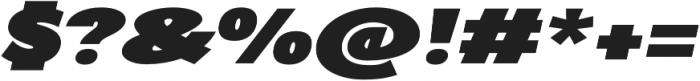 AlterGlam Heavy Italic otf (800) Font OTHER CHARS