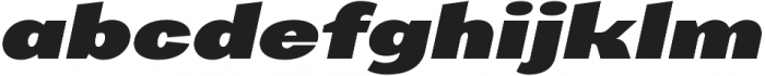 AlterGlam Heavy Italic otf (800) Font LOWERCASE