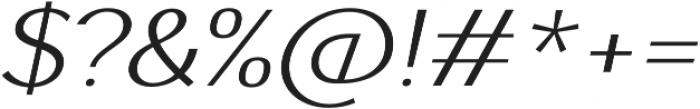 AlterGlam UltraLight Italic otf (300) Font OTHER CHARS