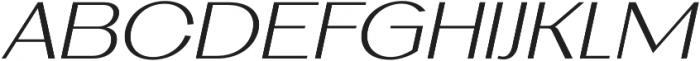 AlterGlam UltraLight Italic otf (300) Font UPPERCASE