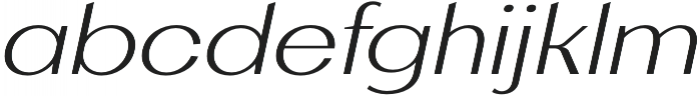 AlterGlam UltraLight Italic otf (300) Font LOWERCASE