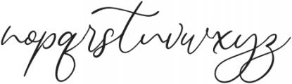 Alternation otf (400) Font LOWERCASE