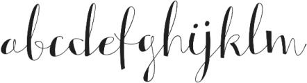 Alterscript otf (400) Font LOWERCASE