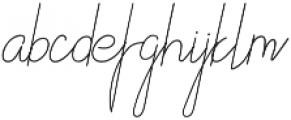 Althype otf (400) Font LOWERCASE