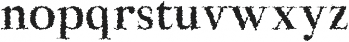 Aludra Distorted otf (400) Font LOWERCASE