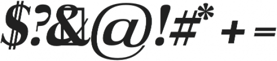 Aludra Extra Bold Italic otf (700) Font OTHER CHARS