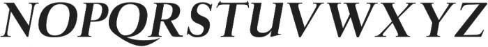 Aludra Extra Bold Italic otf (700) Font UPPERCASE