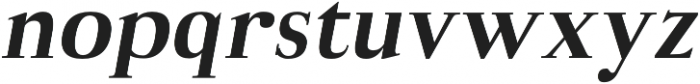 Aludra Extra Bold Italic otf (700) Font LOWERCASE