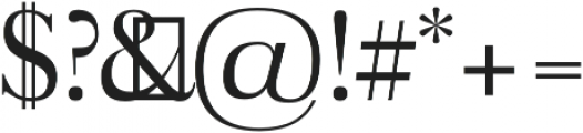 Aludra otf (400) Font OTHER CHARS