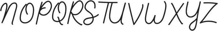 Aluria otf (400) Font UPPERCASE