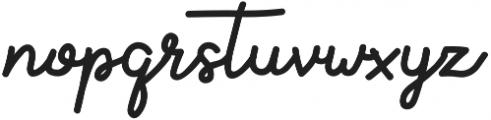 Aluria otf (400) Font LOWERCASE