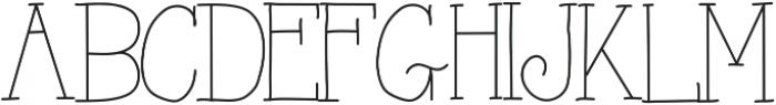 AlwaysHere ttf (400) Font UPPERCASE