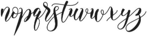 Alyanda otf (400) Font LOWERCASE